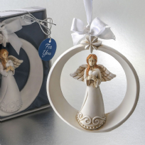 Guardian Angel Ornament With Ornate Star
